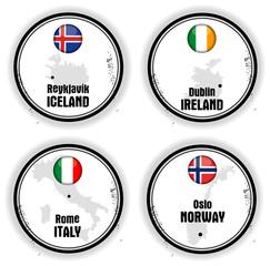 quatre cartes d'Europe