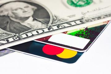 Credit card inside US Dollar