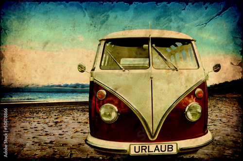 In de dag Vintage Poster Retroplakat - Bulli