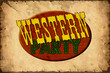 Retroplakat - Westernparty