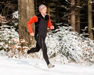 Jogger in the winter