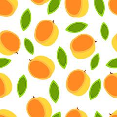 Apricot seamless pattern.
