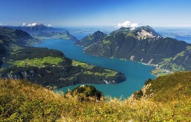 Lake in Switzerland - swiss alps