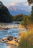 Slovakia mountain stream Bela with Tatra peak Krivan in backgrou