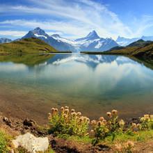 Alpy szwajcarskie górskie jezioro - Grindelwald