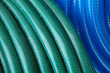 blue and green hose