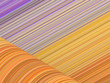 orange purple  cylinder curl shape backdrop