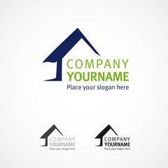 Hausbau Logo Haus illustrativ
