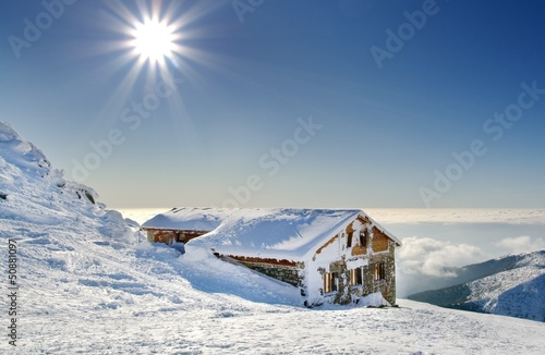 Winter mountain with chalet - Slovakia, Chopok