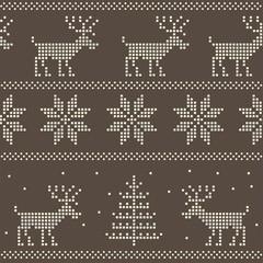seamless nordic scandinavian jumper knit pattern