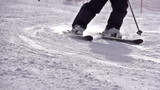 Ski Turn. Slow Motion at a rate of 480 fps