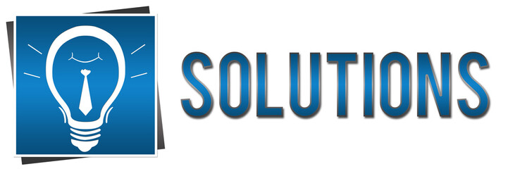 Solutions Banner Bulb Blue