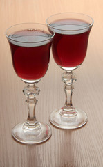 Wine in luxury glasses