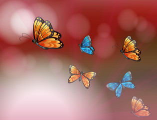 A paper with butterflies