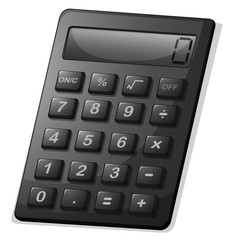 A gray calculator
