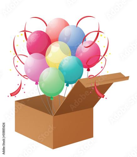 A box of balloons