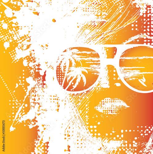 Papiers peints Visage de femme Women in sunglasses