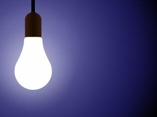 Ilustração - Lâmpada acesa num espaço escuro