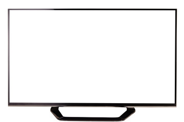 TV set on white