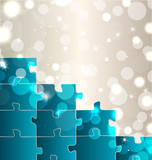 Abstract background with set puzzle pieces