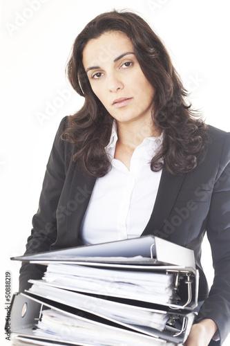 Frau ueberarbeitet