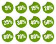 Rabatt Sticker - grün