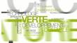 Technologie verte développement durable nuage de mots video
