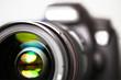 Leinwandbild Motiv Digitale Spiegelreflex-Kamera - Vorderansicht