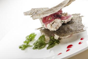 Creative Italian Cuisine: Creamy Cod Canape