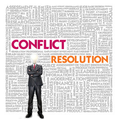 Business word cloud for business and finance concept, Conflict M