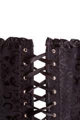 Close up black corset