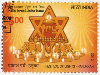INDIA - 2012: shows Festival of Lights, Hanukkah