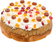Homemade Anniversary Fruit Cake With Whip Cream Dried Fruits