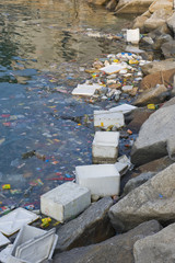Rubbish in bay