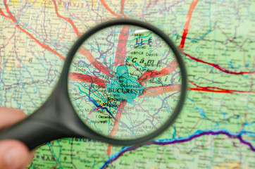 Locating Bucharest City The Capital Of Romania On A Map