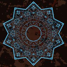 Oosterse mandala motief. wat is karma