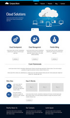 Cloud computing, template web site