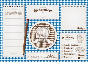 Oktoberfest Menükarte Restaurant Design