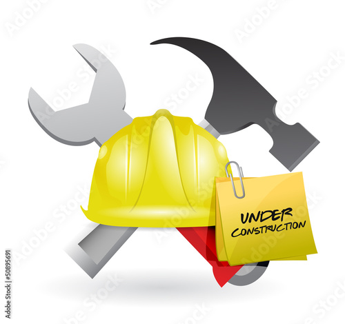 post it under construction sign