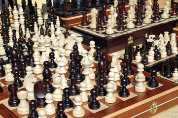 chess pieces in market