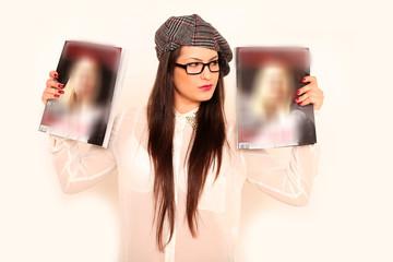 junges Mädchen mit Hut