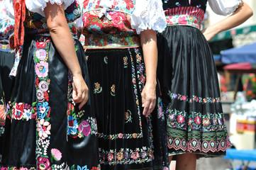 Decorated skirt folk costume, Slovakia
