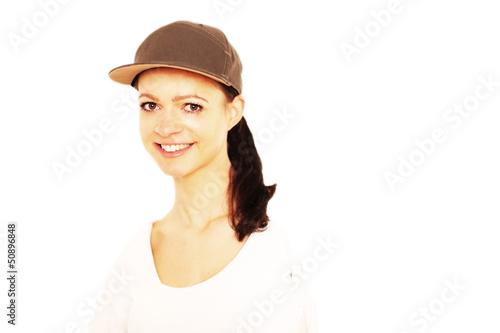 Frau mit Cap