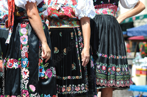 Decorated skirt folk costume, Slovakia