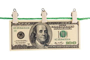 American banknotes.