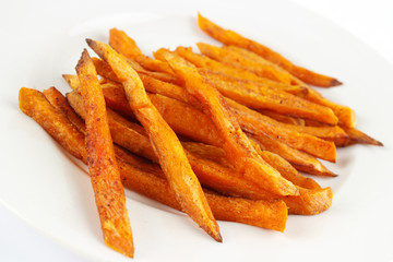 Homemade oil fried sweet potato fries