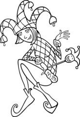 woman in jester costume cartoon