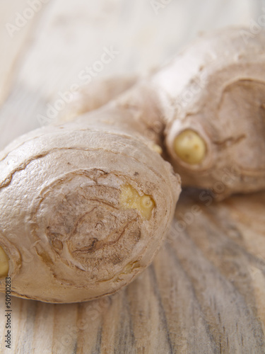 ginger root on a table