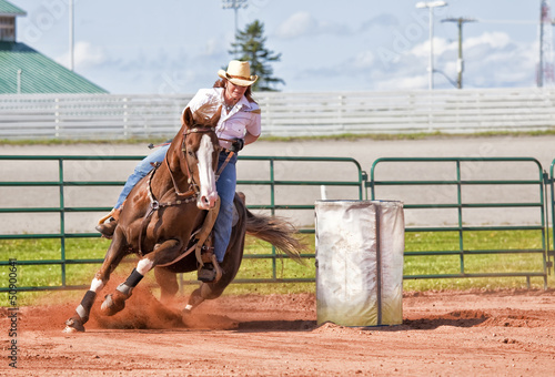 Foto op Aluminium Paardensport Barrel Racer