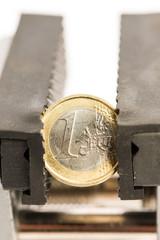 Euro im Schraubstock